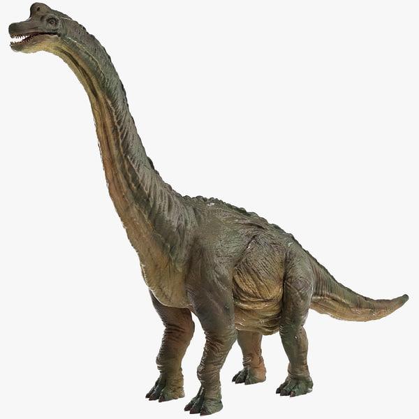 3D brachiosaurus brachio saurus