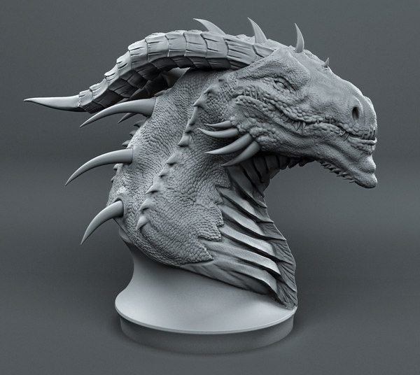 dragons printed head model