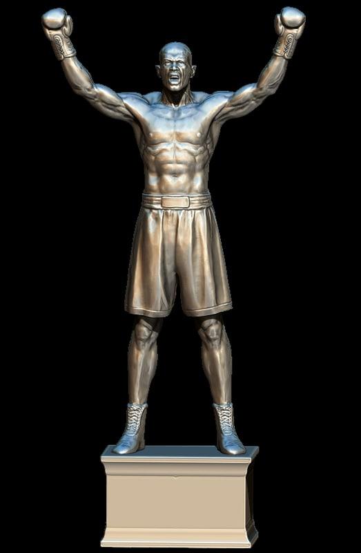 boxer winner pugile 3D model