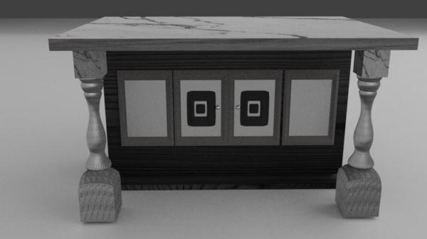 3D marble counter dark