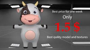 3D best cow cartoon