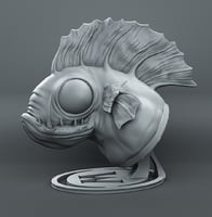 murloc bust print 3D model