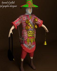 3D water seller model