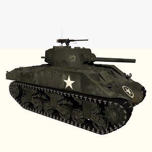 3D m4a3 sherman tank