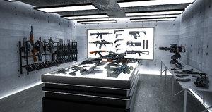 room weapons 3D model