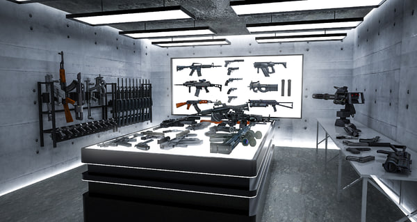 room weapons 3D model