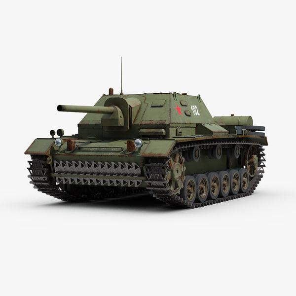 3D model ww2 soviet su 76i