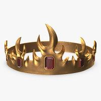 3D crown rubies model
