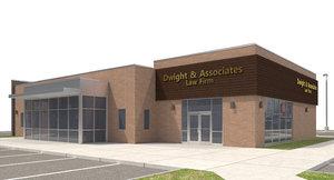 office building site light fixture 3D model