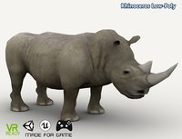 optimized rhinoceros 3D model