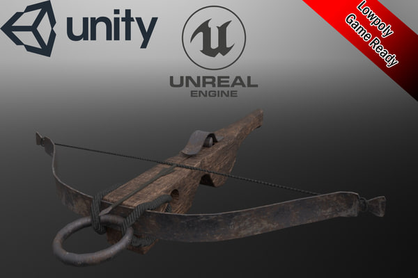 3D medieval crossbow bolt animation model