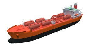 3D ship boat tanker chemical