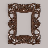 3D carved frame cnc model