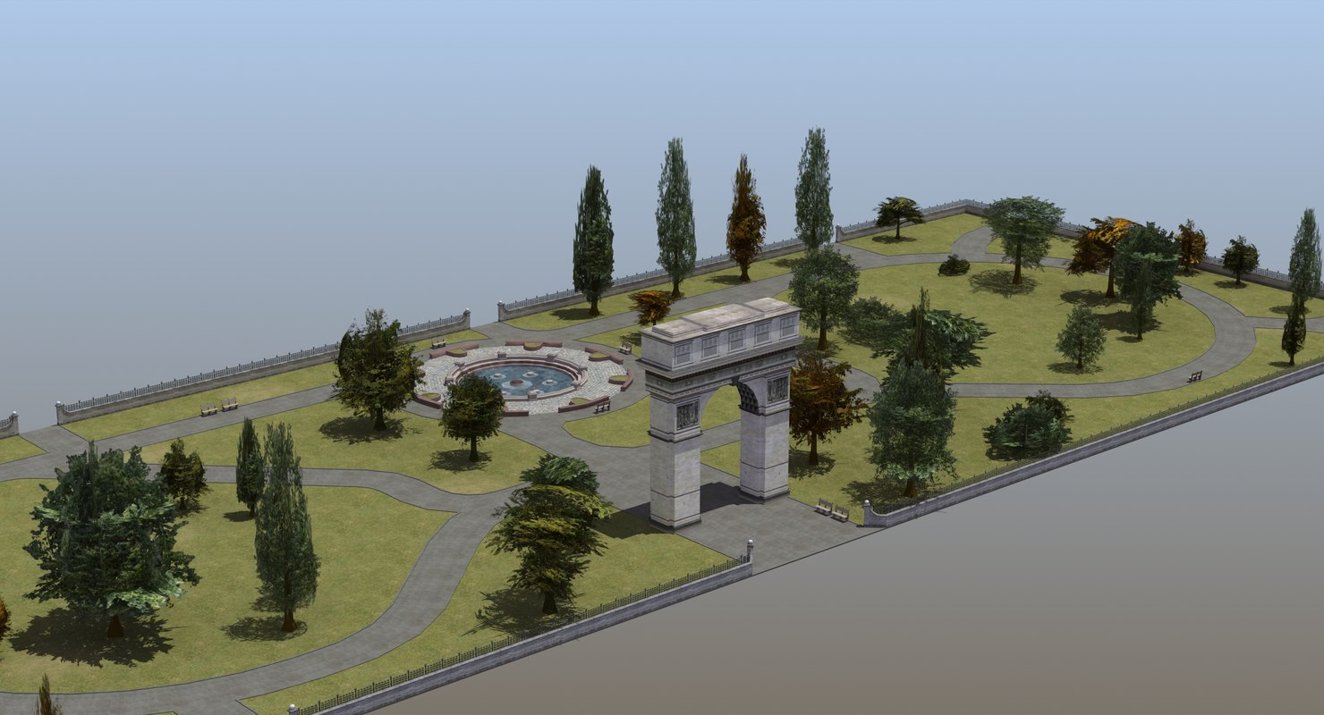 3D model city park