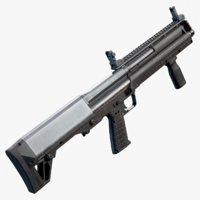 3D kel-tec ksg shotgun model
