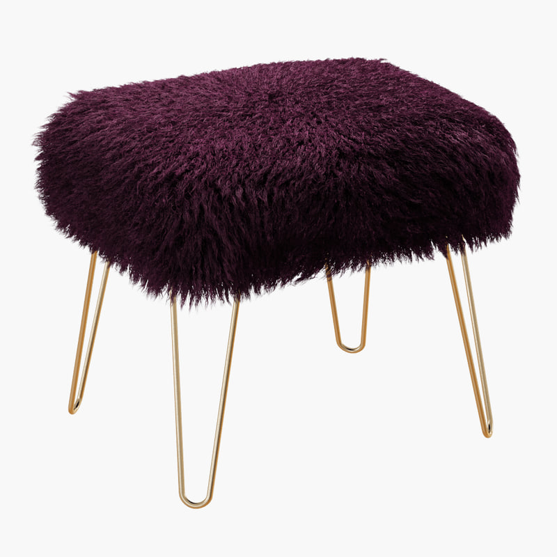3D ffion sheepskin footstool