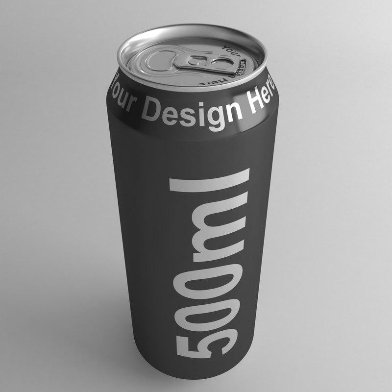 3D aluminium 500ml model