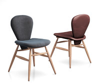 3D attic leather upholstered dining chair model