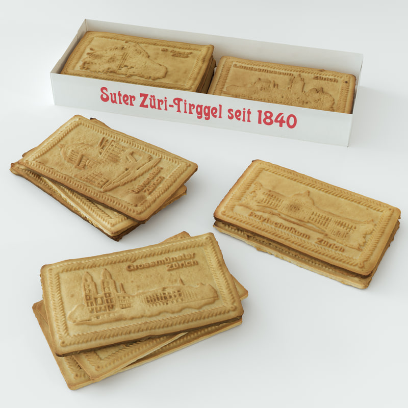 3D realistic biscuits