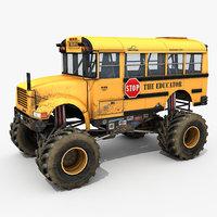 School bus monster truck