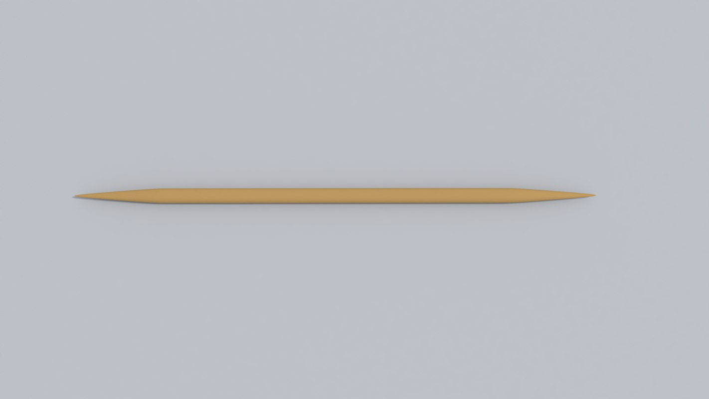 3D toothpick tooth