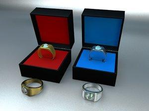 3D diamond rings
