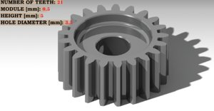 spur gear teeth: 21 3D model