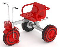 baby tricycle 3D model