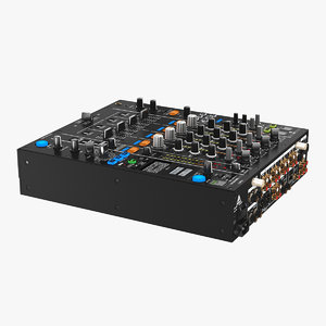 3D digital dj mixer model