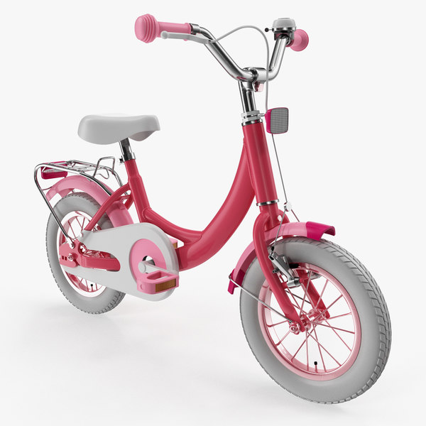 3D girls kids bike