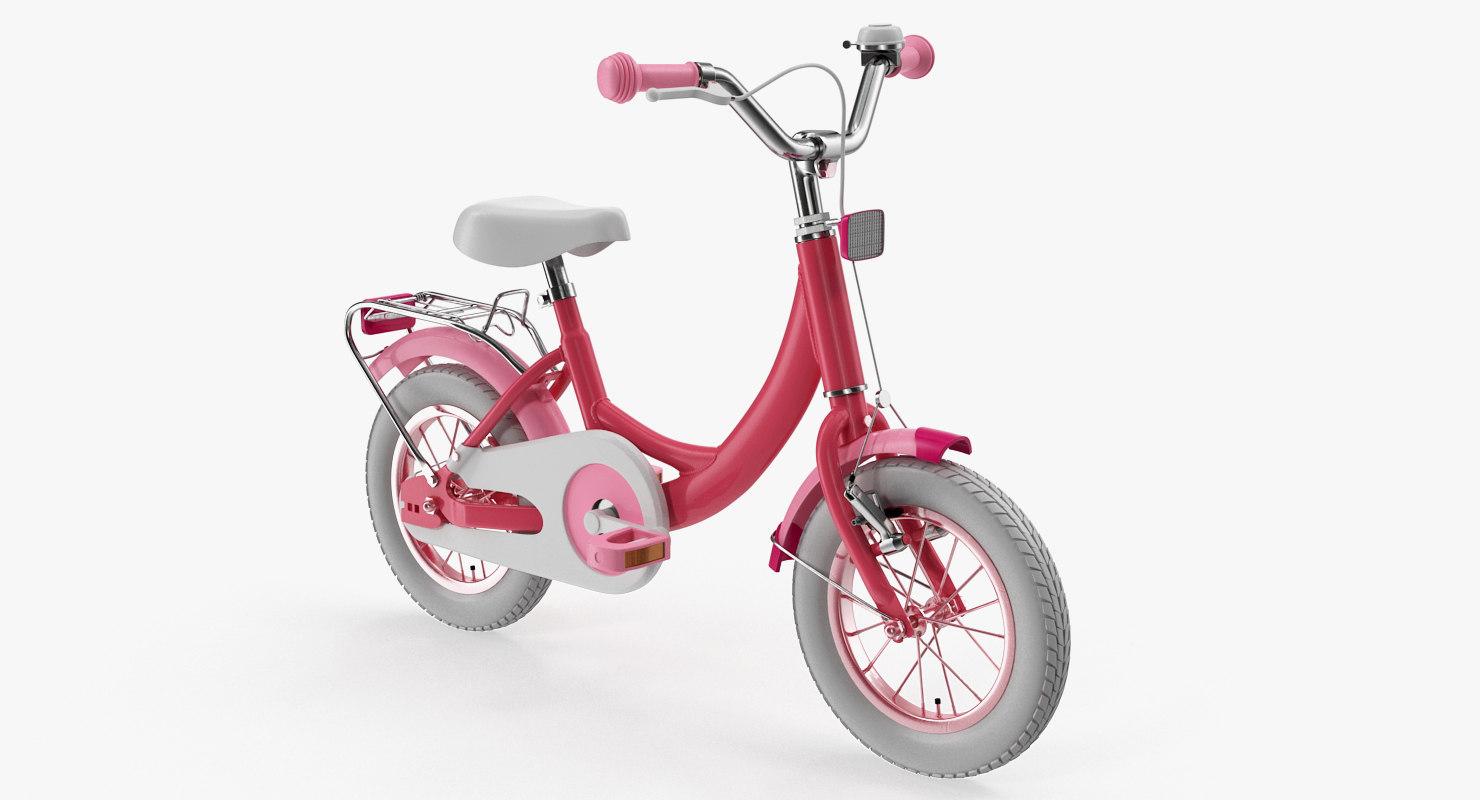 3D girls kids bike