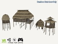 3D optimized bamboo huts