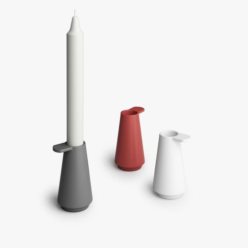 muuto grip candlestick 3D