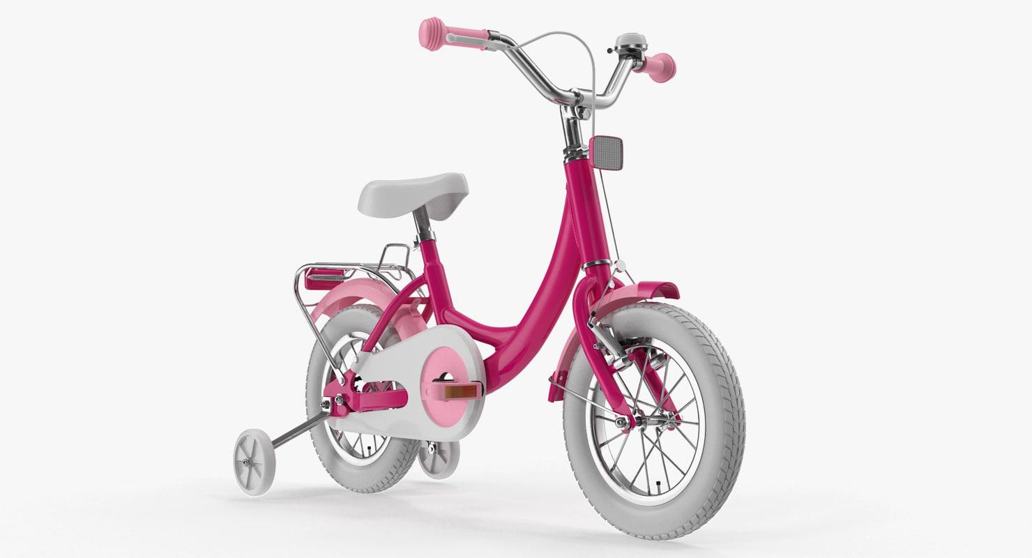 girls kids bike training model