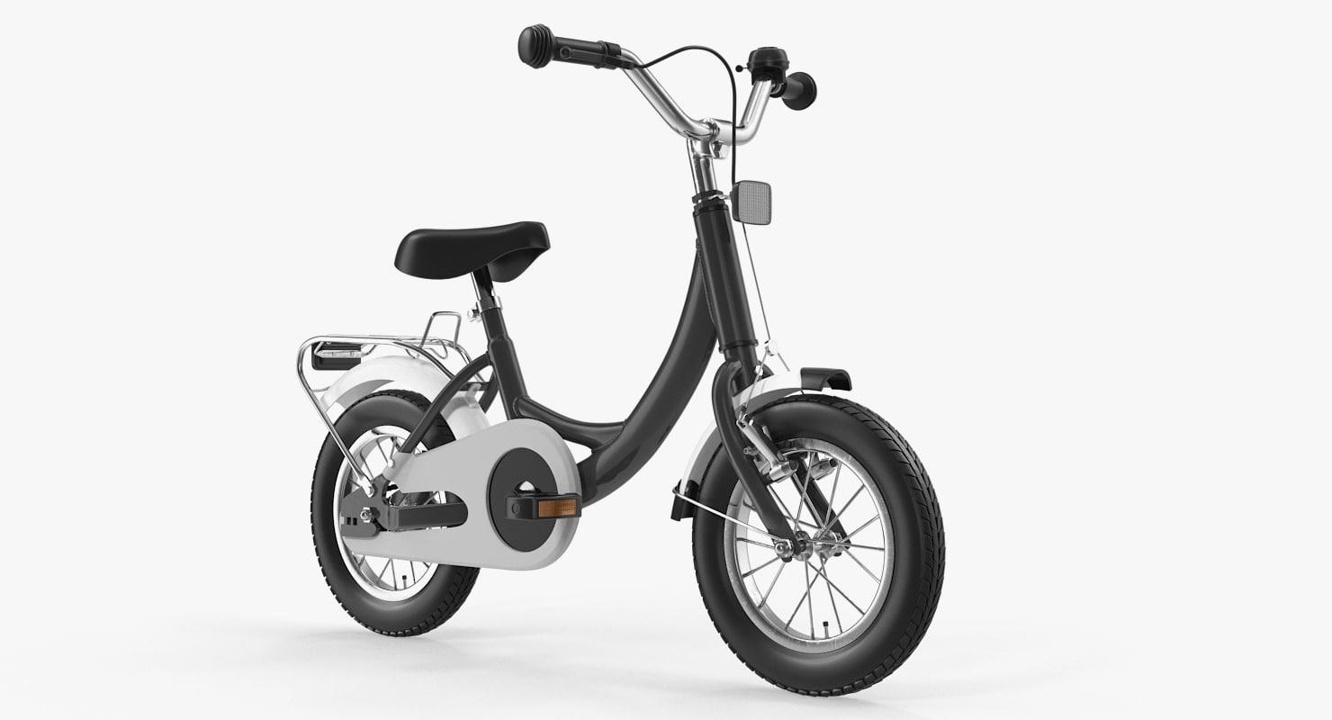 kids bike rigged 3D