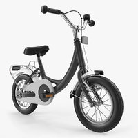 kids bike rigged 3D