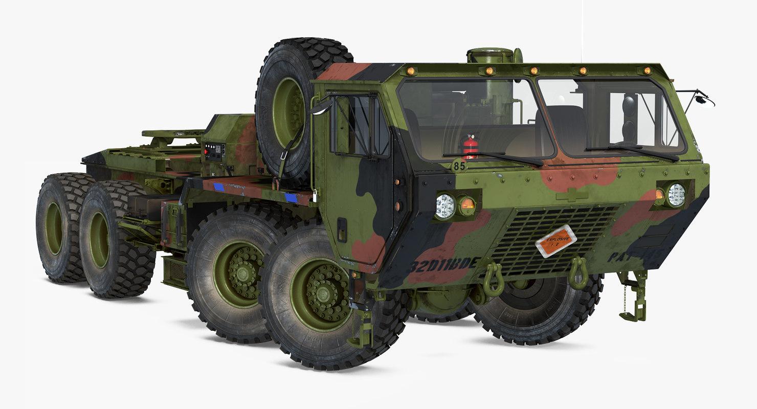 3D military truck oshkosh hemtt model