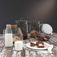Photo-realisitc Cookie Jars and Milk Bottle