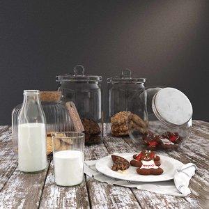 3D cookie jars milk bottle