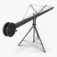 professional camera crane 3D model