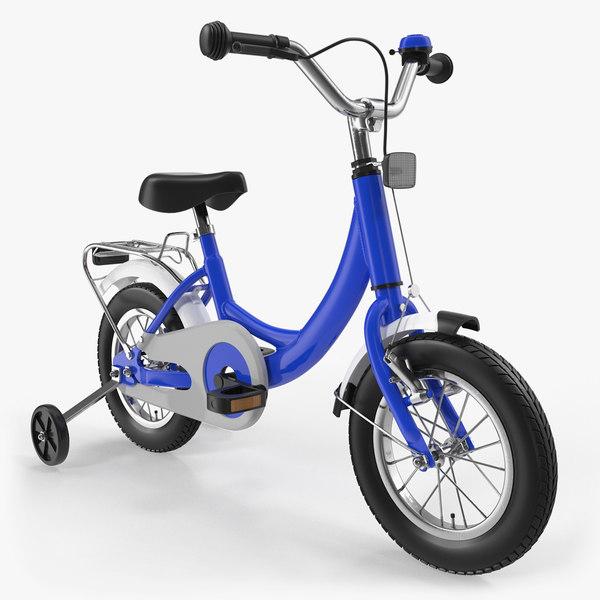 3D small kids bike training