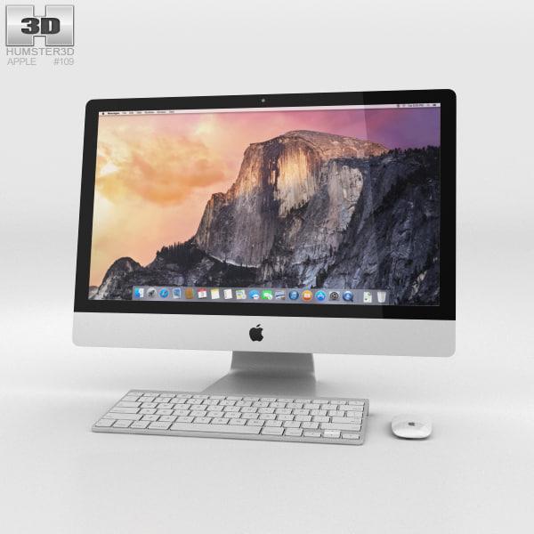 3D apple imac 2014