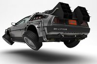 3D model delorean time machine