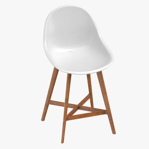 scandinavian stool 3D model