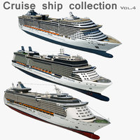 3D cruise ships model