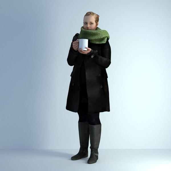 scanned woman 004 3D