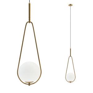 3D fixture hanging loop brass model