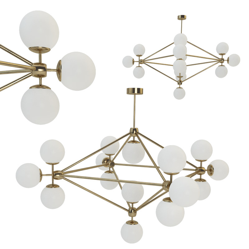 chandelier gold modo 15 model