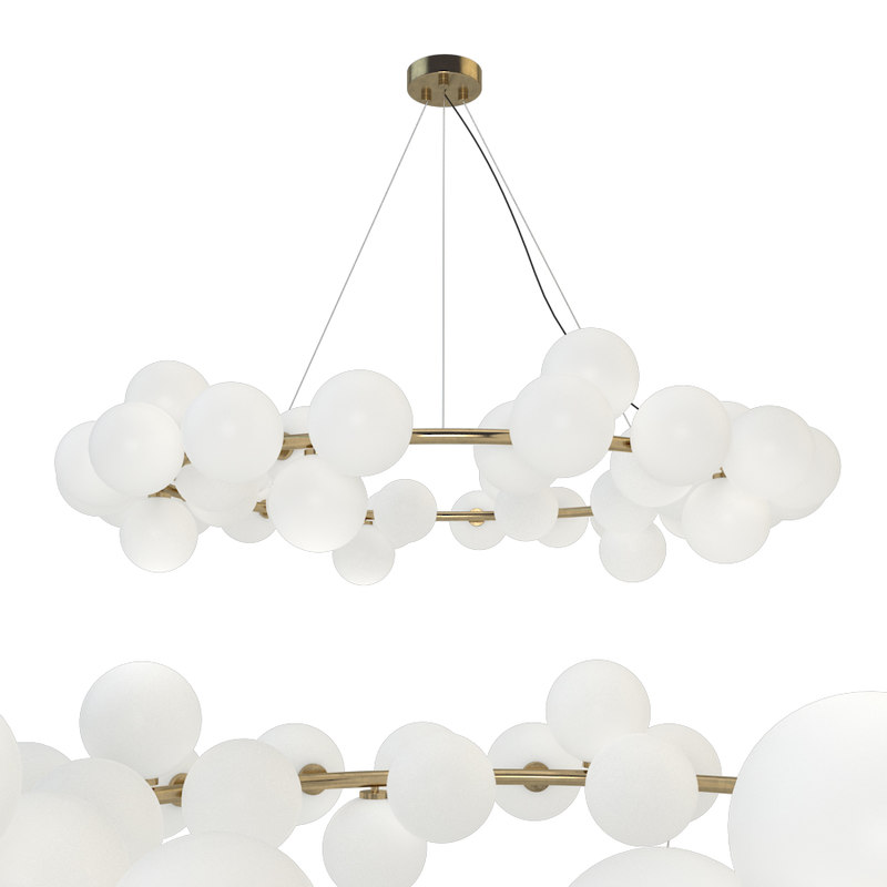 3D mimosa pendant light model