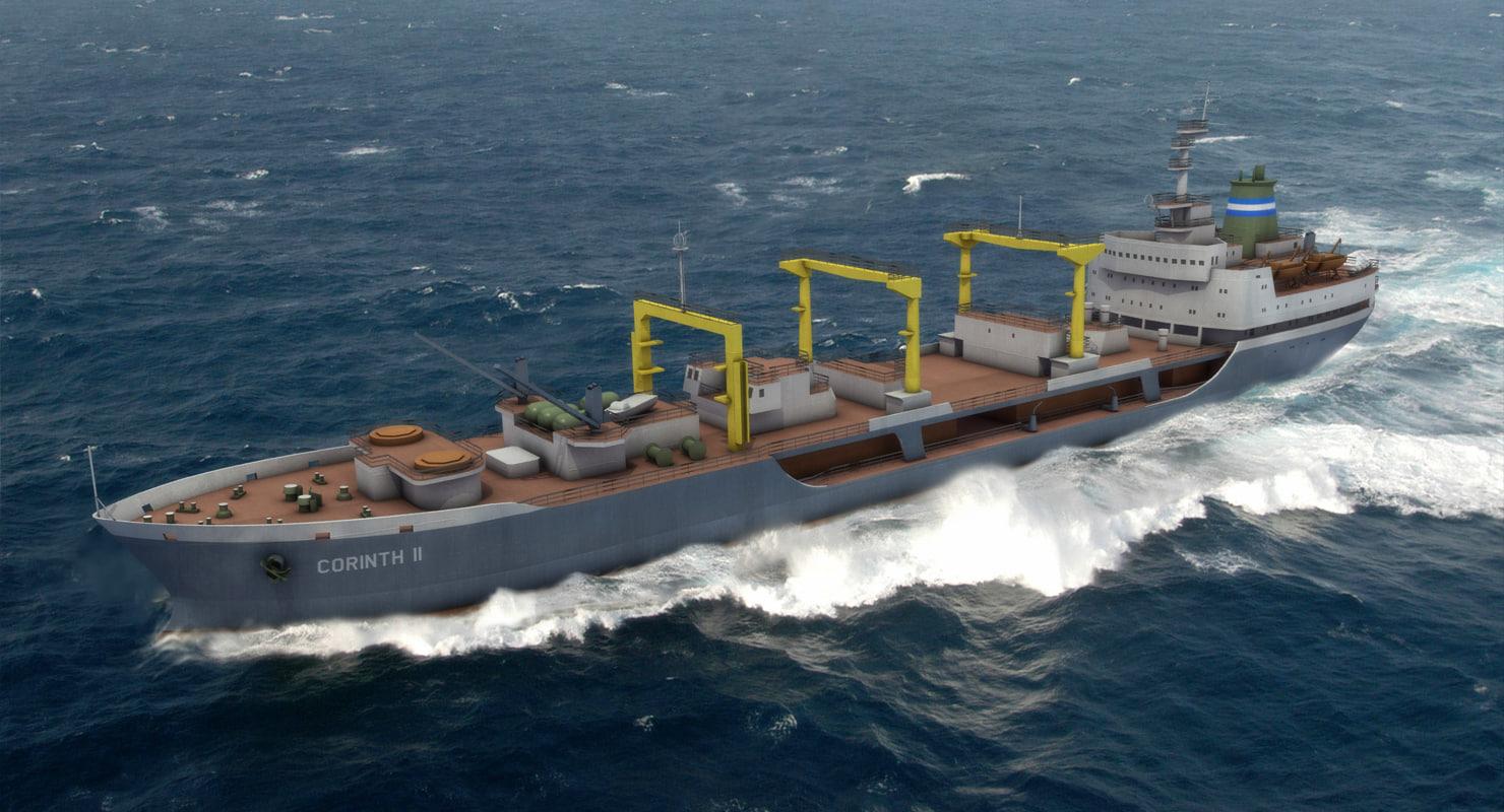 3D civilian ships